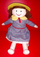 "2001 Madeline Friend Danielle Doll Soft Plush Rare Plaid Dress 15"" Dressable"