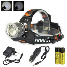 12000LM XM-L T6 LED Headlamp 18650 Head Torch Lamp Light Zoomable Spotlight