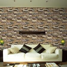 Adorable Stone Brick Removable Wallpaper Peel And Stick 3D Texture Self Adhesive
