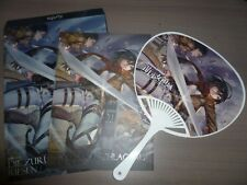 Attack on Titan Shingeki no Kyojin illust artbook + fan + clear file + poster