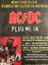 AC/DC, Plug Me In, Full Page Vintage Promotional Ad, AC DC