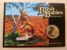 Australian Bush Babies Kangaroo 1 Australia $ Dollar Münze  Königin Elisabeth II