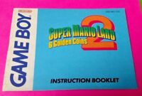 Super Mario Land 2 6 Coins - Nintendo Game Boy Instruction MANUAL ONLY - No Game