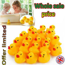 500 WHOLESALE Yellow Rubber DUCKS Squeaky Bath Toys Water Play Toddler DUCK