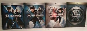 X-Men 1-2-3-4 Edition Digibook - Lot de 4 films Blu Ray - Comme neuf