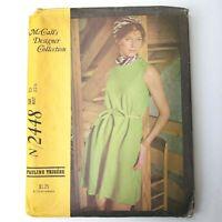 Vintage McCalls Pattern N 2448 Misses Dress 10 Pauline Trigere 1970 Uncut FF
