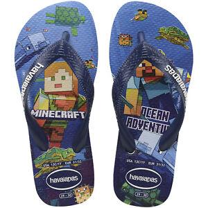 Havaianas Boys Kids Minecraft Summer Beach Sandals Flip Flops