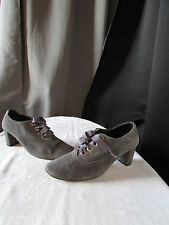 chaussures souliers paco herrero daim gris pointure 39