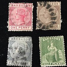 1852-1885 Barbados Postage Stamps Used