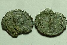 Constantius Emperor globe spear SPES REIPVBLICE Rare Ancient Roman coin 347 AD