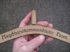 * WW2 original German LUFTWAFFE UNIFORM HANGER Fliegerhorstkommendantur Posen.