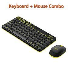 Logitech Mini Laptop 2.4G 1000dpi Wireless Keyboard USB for Computer PC W/ Mouse