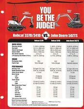 Equipment Brochure Bobcat 337d 341d Vs John Deere 50zts Excavator C01 E6726