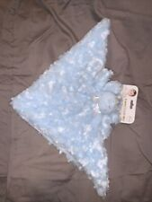 Blankets & Beyond Security Blanket Lovey Blue Puppy Dog Rosette Swirl Baby Nunu