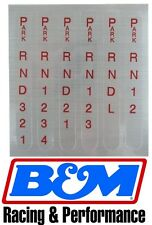 B&M REPLACEMENT SHIFTER INDICATOR WINDOW DECAL FOR PRO RATCHET SHIFTERS BM80848