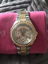 Guess Silver And Rose Gold Diamonte Watch