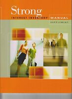 Strong Interest Inventory Manual Supplement ONLY Occupational Sales Update 2012