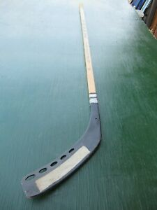 "Vintage Wooden 53"" Long Hockey Stick MYLEC with Plastic Blade"