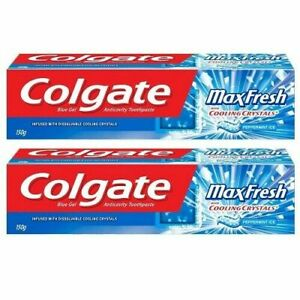 2x Colgate Maxfresh Blue Toothpaste - 150 g (pack of 2) free shipping world