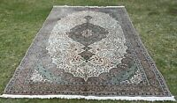 High Quality Turkish Hand Knotted Wool Carpet Vintage Oriental Area Rug 6x10 ft.