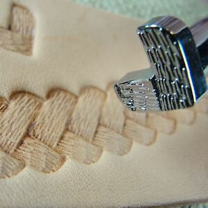 Leather Stamping Tool - D2185 Textured Braid Border Stamp