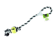 ROPE PULL AND TUG DOG TOY WITH BALL