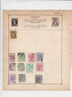 Romania Stamps on Album Page ref  R 18875