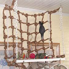 14'' Swing Rope Small Animal Swing Ladder Toys Parrot Bird Jungle Climbing Net