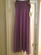 LULAROE WOMENS MAXI LARGE (14-16) MULTI COLOR PURPLE NEW WITH TAG