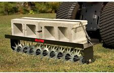 40 in. Tow-Behind Spike Aerator Lawn Aerate Soil Steel Star Capacity Weight Tray