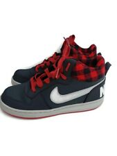 Nike Court Borough Mid Premium Youth Boys Size 5.5 Shoes 847746-002 Grey Red