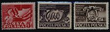 1948 Polska Poland Fi. 479-81** Kongres Jedności Klasy Robotniczej