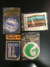 4 Chicago Illinois Vintage Sticker Patch SEARS TOWER, Science Museum, Aquarium