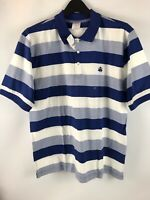 Brooks Brothers polo shirt short sleeve  Blue and White striped size Large