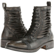 Brand New 100% AUTHENTIC John Varvatos Simmons Twisted Lace Boots Made In Italy