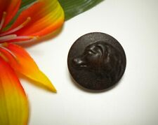 ANTIQUE HUNTING DOG PICTURE BUTTON