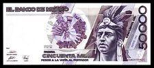 El Banco de Mexico 50,000 Pesos 20.12.1990, Series HN. P-93b. Crisp UNC..