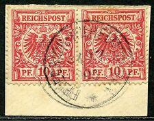 DNG V 47 c Paar  Briefstück  Friedrich-Wilhelmshafen  gepr.  450,-