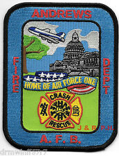 Maryland Andrews Air Force Base Crash Rescue MD Fire Dept Patch Air Force One