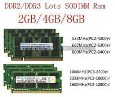 Samsung RAM Para 2G 4GB 8G DDR2 DDR3 5300 6400 8500 10600 12800 Lote de memoria portátil