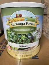 Saratoga Farms Freeze Dried Food Spinach #10 Can