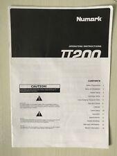 NUMARK TT200 utilisateur Manuel-original-excellent état