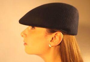 New Flat Cap Navy Blue Stylish 100% Wool Felt Unisex Fashion Hat S M L XL