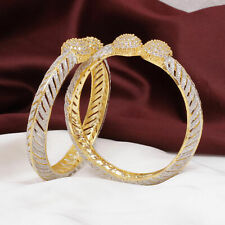 Indian Bollywood Gold Plated AD Ball Bangle Bracelet Set Wedding Fashion Jewelry