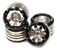 C24883BLACK Alloy X 2.2 Beadlock Wheel Set Total 40oz(4)w/12mm Hex for Crawler