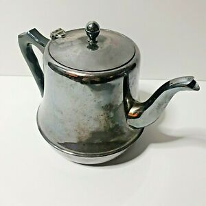 """1940s Guildford Renown silverplated Teapot H 6"""""""