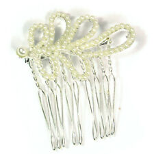 Black Ginger Pretty Swirl Hair Comb with Pearl Beads Wedding Races Party 721-244
