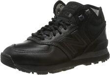 New Balance Men's 574 Trainer Boots Black Leather - Size 10.5 UK