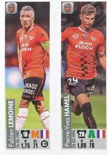 539 FABIEN LEMOINE PIERRE-YVES HAMEL FC.LORIENT LIGUE 2 STICKER PANINI FOOT 2019