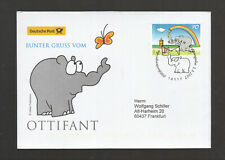 Germany 2017:  beautiful  FDC  - Colorful greeting from Ottifant, cartoons